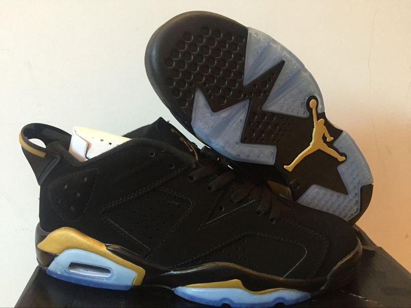 Running weapon Cheap Air Jordan 6 Black/Golden Shoes Retro Women