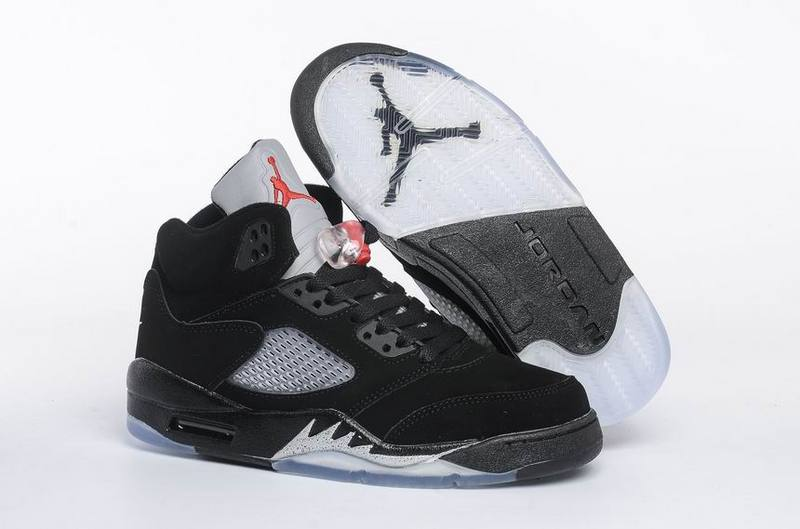 Running weapon Cheap Air Jordan 5 Shoes Retro Women Black
