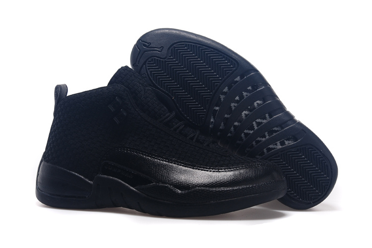 Running weapon Cheap Wholesale Nike Shoes Air Jordan 12 Future All Black