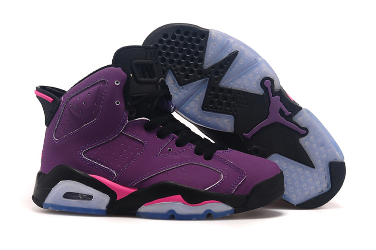 Running weapon Cheap Wholesale Nike Shoes Air Jordan 6 Retro Grape