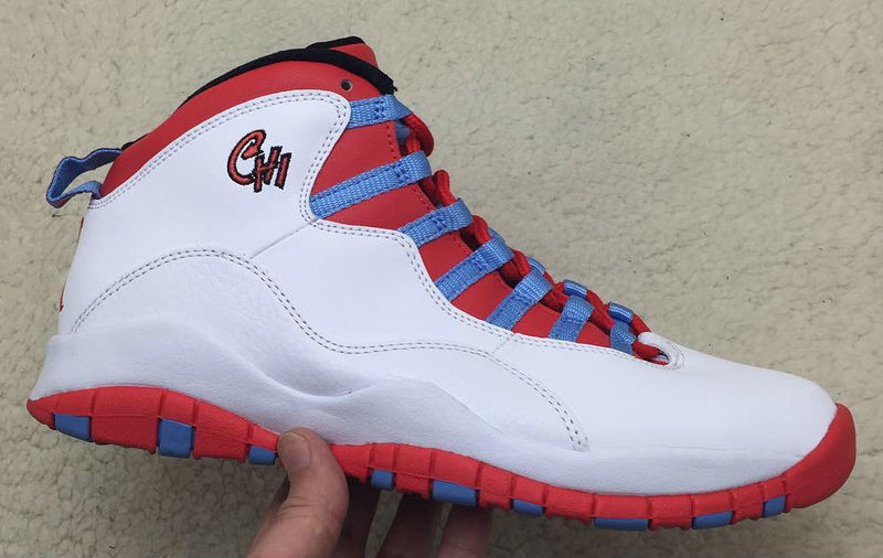 Running weapon Cheap Wholesale Air Jordan 10 Shoes Retro Men White/Red/Blue