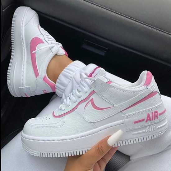 Women Air Jordan Air Force one White and Pink shoes 202018