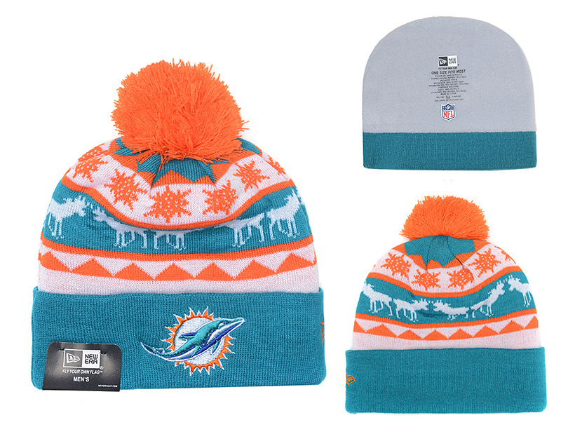 NFL Miami Dolphins Stitched Knit Hats 005