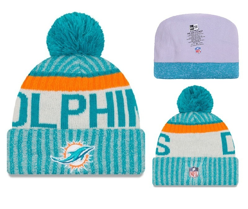 NFL Miami Dolphins Stitched Knit Hats 001