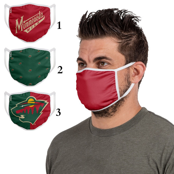 Minnesota Wild Sports Face Mask 001 Filter Pm2.5 (Pls Check Description For Details)