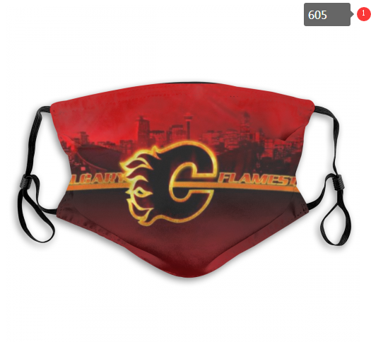 Flames Face Mask 00605 Filter Pm2.5 (Pls Check Description For Details) Flames Mask