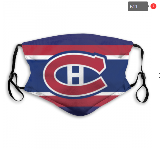 Canadiens Face Mask 00611 Filter Pm2.5 (Pls Check Description For Details) Canadiens Mask