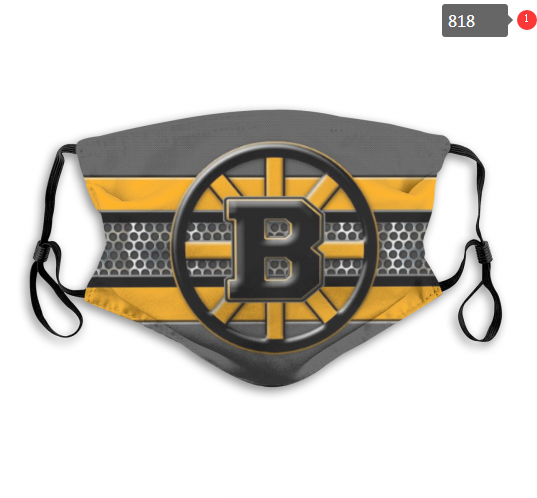 Bruins Face Mask 00818 Filter Pm2.5 (Pls Check Description For Details) Bruins Mask