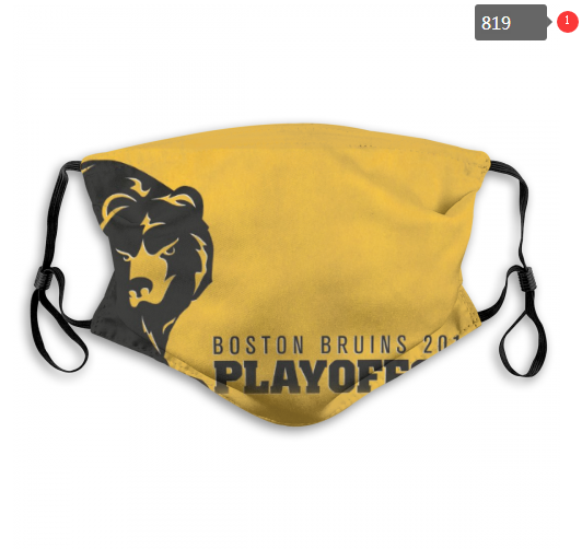Bruins Face Mask 00819 Filter Pm2.5 (Pls Check Description For Details) Bruins Mask