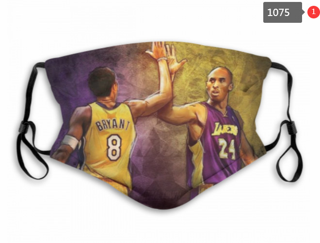 Lakers Kobe Bryants Face Mask 001075 Filter Pm2.5 (Pls Check Description For Details) Lakers Face Mask
