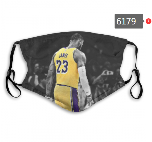 Lakers Lebron James Face Mask 06179 Filter Pm2.5 (Pls Check Description For Details) Lakers Face Mask