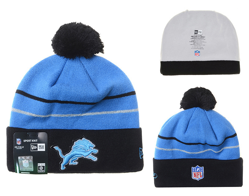 NFL Detroit Lions Stitched Knit Hats 002