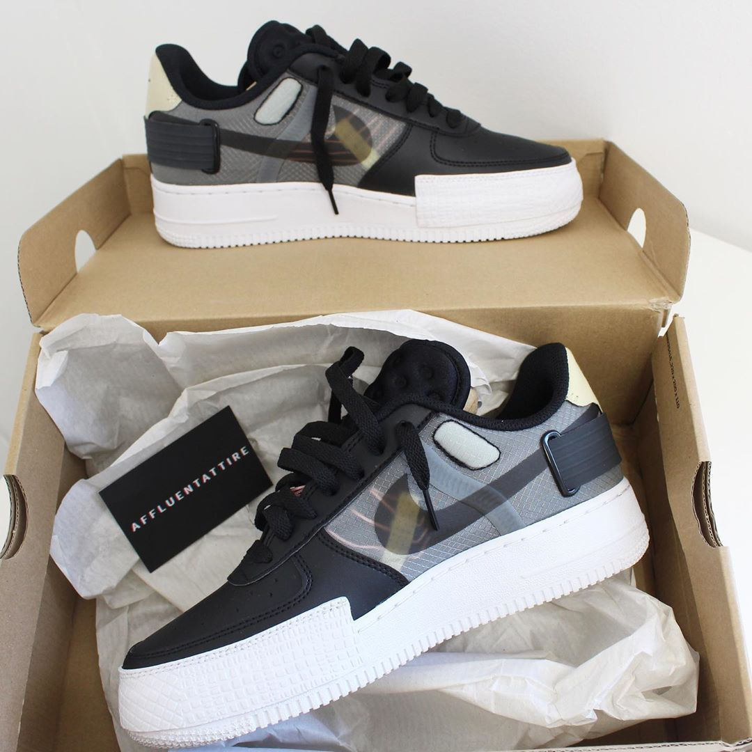 Men's Air Force 1 Shoes Black 024