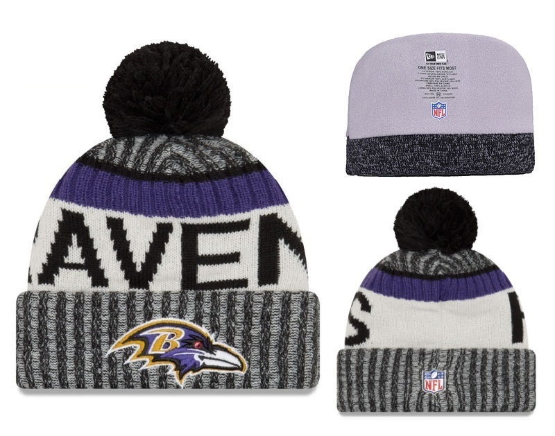 NFL Baltimore Ravens Stitched Knit Hats 001