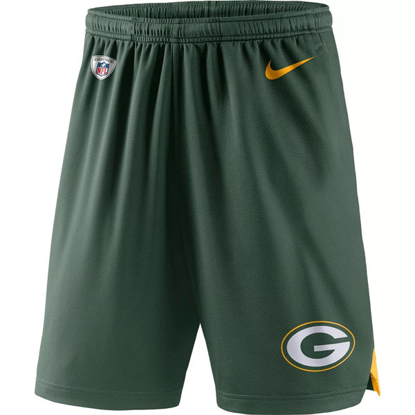 Men's Green Bay Packers Nike Green Knit Performance Shorts