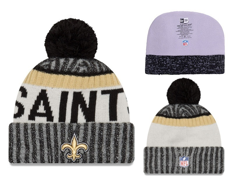 NFL New Orleans Saints Stitched Knit Hats 001