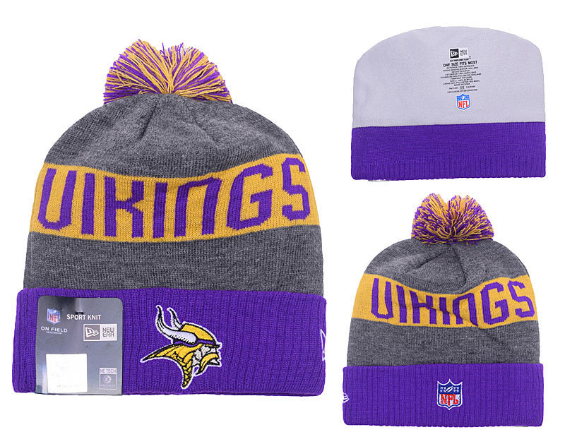NFL Minnesota Vikings Stitched Knit Hats 014